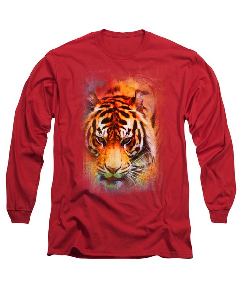 Colorful Expressions Tiger Long Sleeve T-Shirt by Jai Johnson