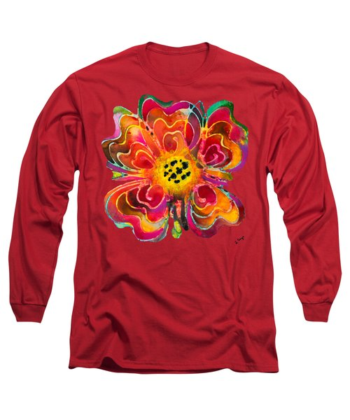 Colorful Flower Art - Summer Love By Sharon Cummings Long Sleeve T-Shirt by Sharon Cummings