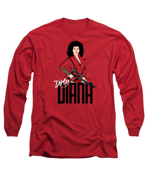 Dirty Diana Long Sleeve T-Shirt by Mos Graphix