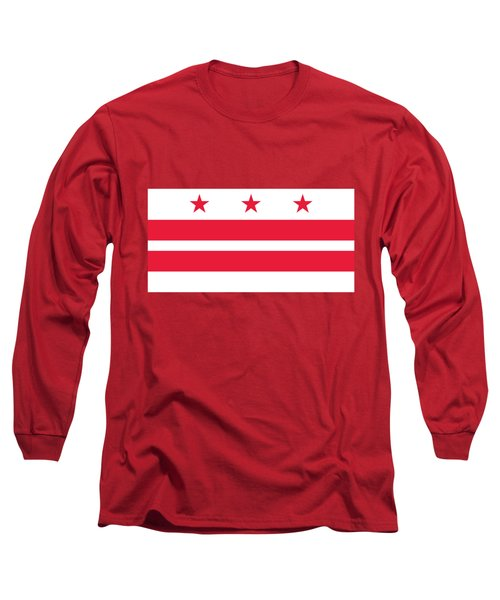 District Of Columbia Long Sleeve T-Shirt by Frederick Holiday