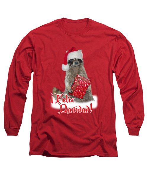 Feliz Navidad - Raccoon Long Sleeve T-Shirt by Gravityx9  Designs