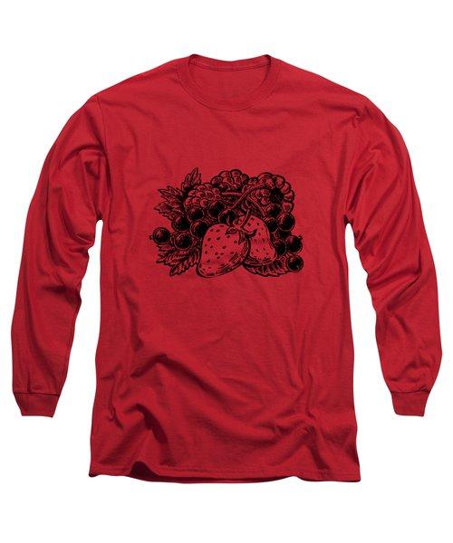 Forest Berries Long Sleeve T-Shirt by Irina Sztukowski