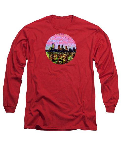 Golden Skyline Perth Long Sleeve T-Shirt by Alan Hogan