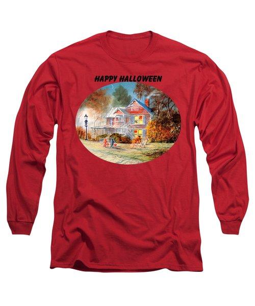 Happy Halloween Long Sleeve T-Shirt by Bill Holkham
