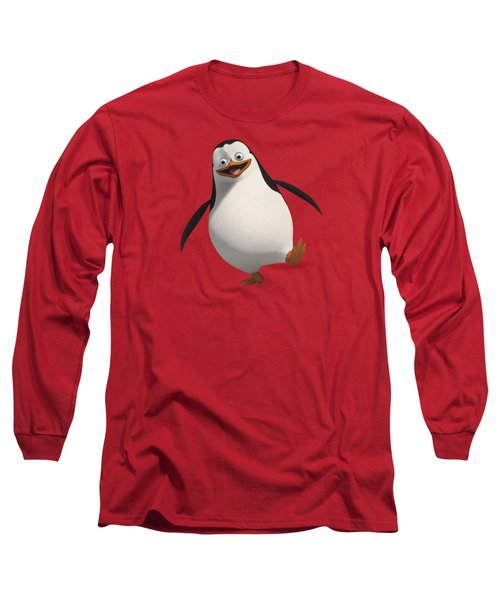 Happy Penguin Long Sleeve T-Shirt by T Shirts R Us -