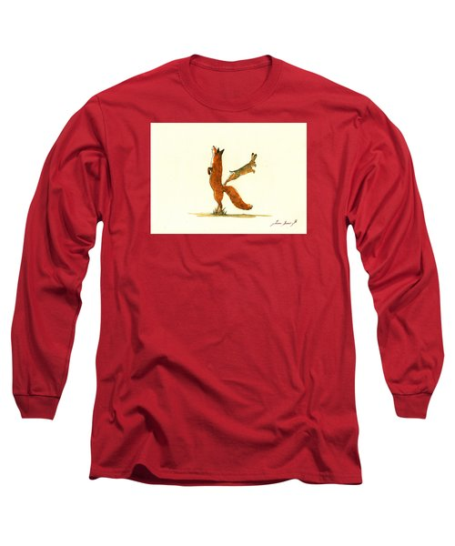 K Letter Woodland Alphabet Long Sleeve T-Shirt by Juan  Bosco