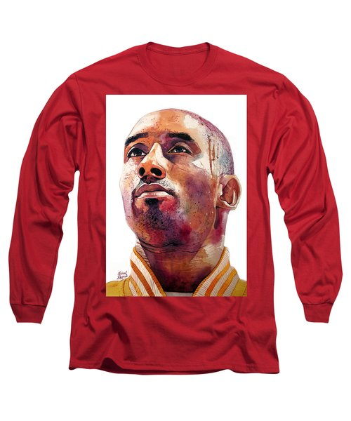 Kobe Bryant Lakers Final Game Long Sleeve T-Shirt by Michael Pattison