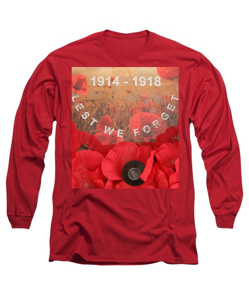 Long Sleeve T-Shirt featuring the photograph Lest We Forget - 1914-1918 by Travel Pics