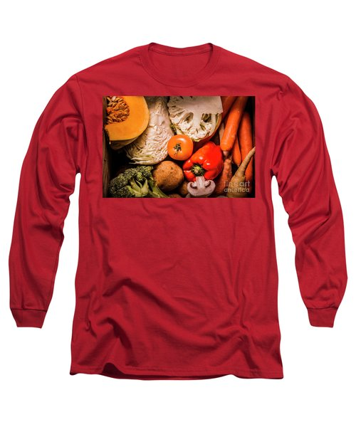 Mixed Vegetable Produce Pack Long Sleeve T-Shirt by Jorgo Photography - Wall Art Gallery