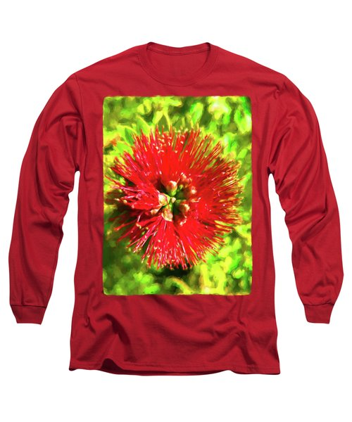 My Surreal Christmas Flower Long Sleeve T-Shirt by Jackie VanO