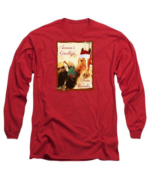 Nevada Greetings Long Sleeve T-Shirt by Bobbee Rickard