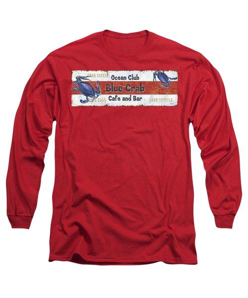 Ocean Club Cafe Long Sleeve T-Shirt by Debbie DeWitt