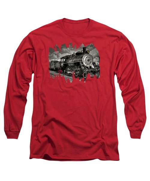 Old 104 Steam Engine Locomotive Long Sleeve T-Shirt by Thom Zehrfeld