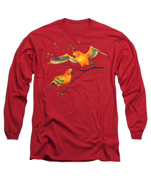 Parrots Conure Long Sleeve T-Shirt by Diane Leenknegt