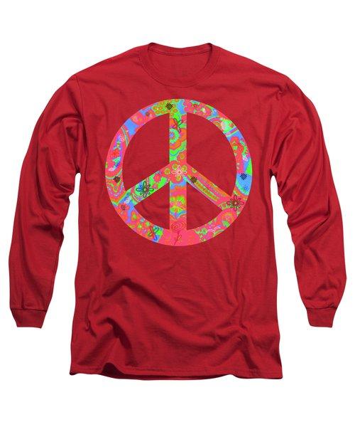 Peace Long Sleeve T-Shirt by Linda Lees