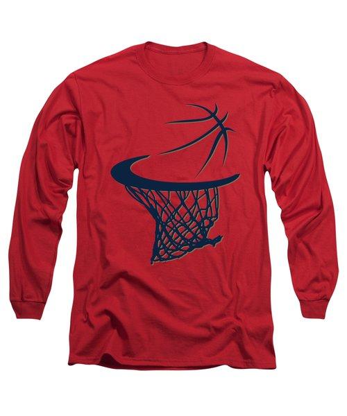 Pelicans Basketball Hoop Long Sleeve T-Shirt by Joe Hamilton
