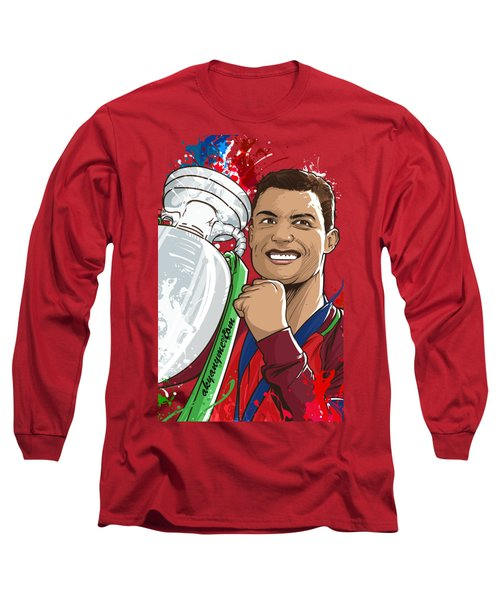 Portugal Campeoes Da Europa Long Sleeve T-Shirt by Akyanyme