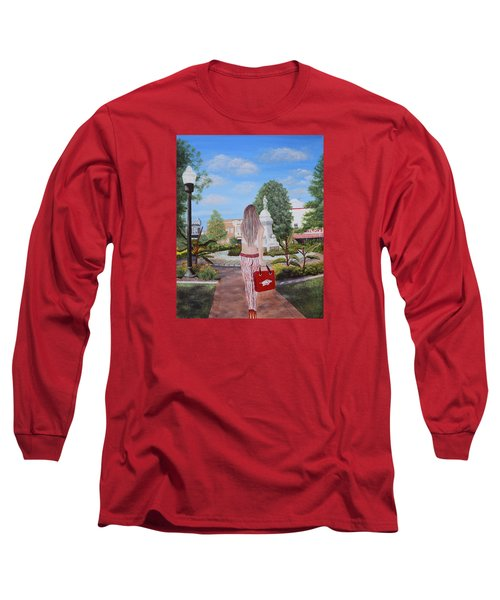 Razorback Swagger At Bentonville Square Long Sleeve T-Shirt by Belinda Nagy
