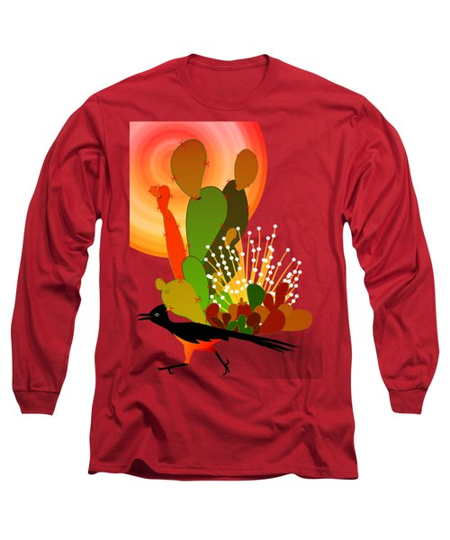 Roadrunner Sunrise Long Sleeve T-Shirt by Methune Hively