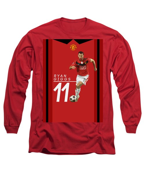 Ryan Giggs Long Sleeve T-Shirt by Semih Yurdabak