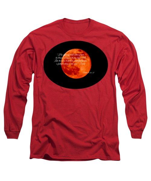 Strawberry Moon Long Sleeve T-Shirt by Anita Faye
