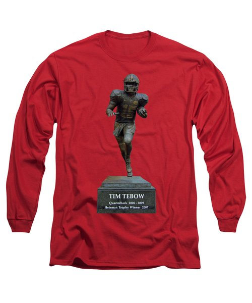Tim Tebow Transparent For Customization Long Sleeve T-Shirt by D Hackett