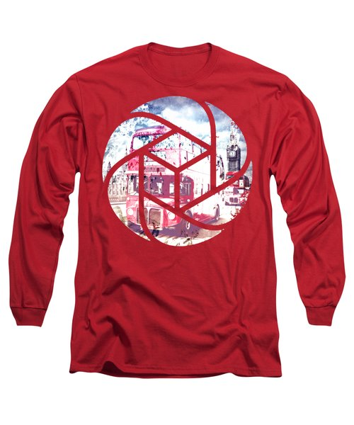 Trendy Design London Red Buses  Long Sleeve T-Shirt by Melanie Viola