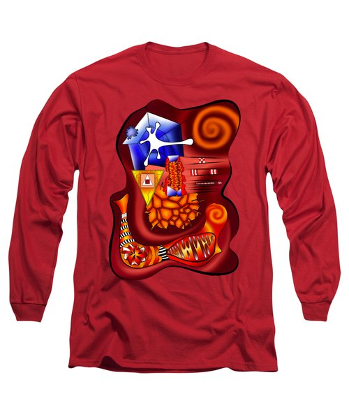Versophomus V3 - Abstract Digital Painting Long Sleeve T-Shirt by Cersatti