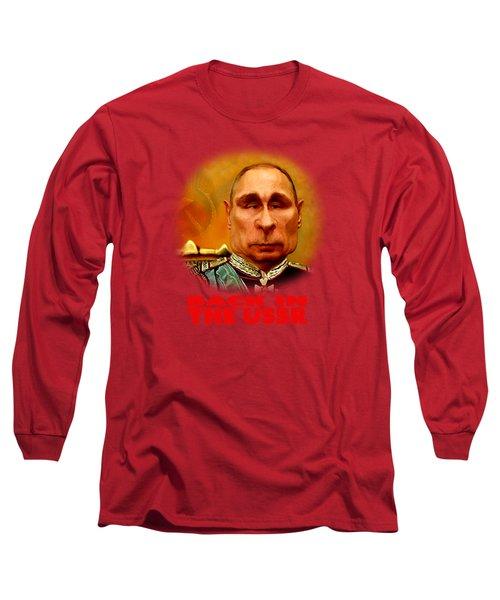 Vladimir Putin Long Sleeve T-Shirt by Hans Neuhart