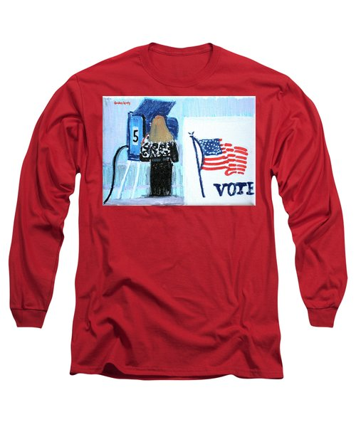 Voting Booth 2008 Long Sleeve T-Shirt by Candace Lovely
