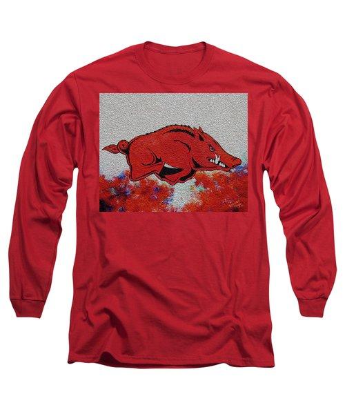 Woo Pig Sooie 2 Long Sleeve T-Shirt by Belinda Nagy