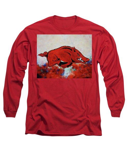 Woo Pig Sooie Long Sleeve T-Shirt by Belinda Nagy