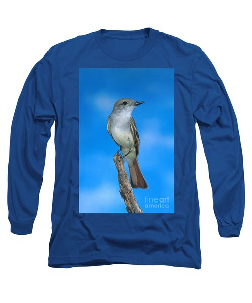 Ash-throated Flycatcher Long Sleeve T-Shirt by Anthony Mercieca