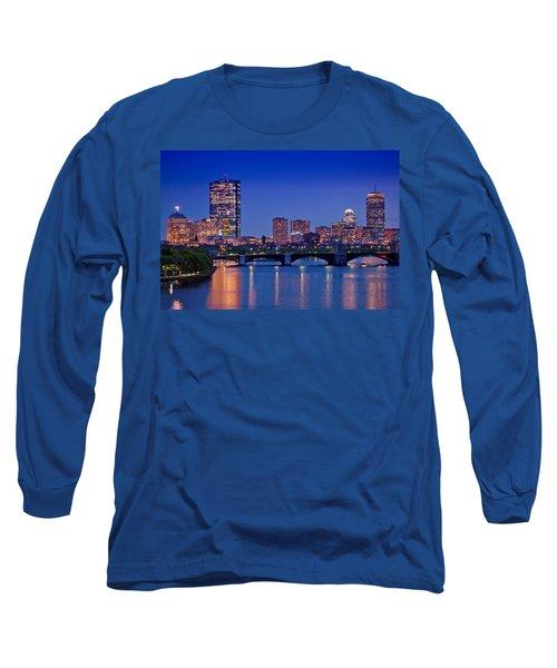 Boston Nights 2 Long Sleeve T-Shirt by Joann Vitali
