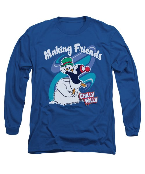 Chilly Willy - Making Friends Long Sleeve T-Shirt by Brand A