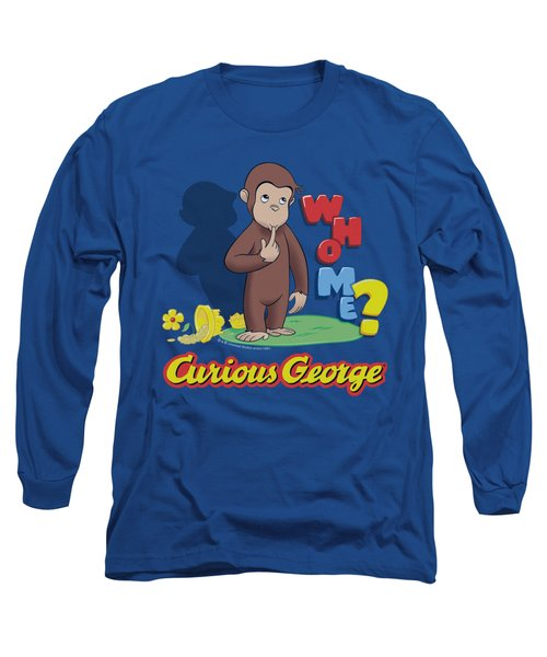 Curious George - Who Me Long Sleeve T-Shirt by Brand A