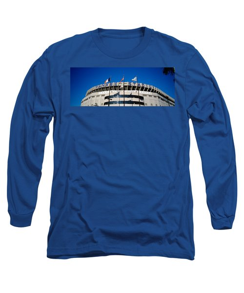 Flags In Front Of A Stadium, Yankee Long Sleeve T-Shirt by Panoramic Images