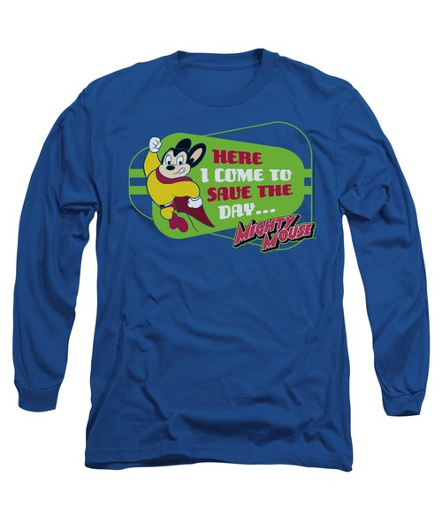 Mighty Mouse - Here I Come Long Sleeve T-Shirt by Brand A