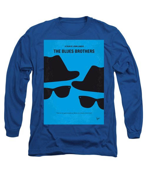 No012 My Blues Brother Minimal Movie Poster Long Sleeve T-Shirt by Chungkong Art