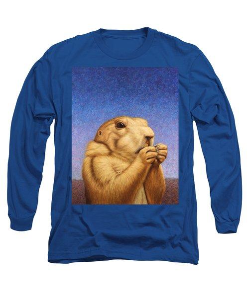 Prairie Dog Long Sleeve T-Shirt by James W Johnson