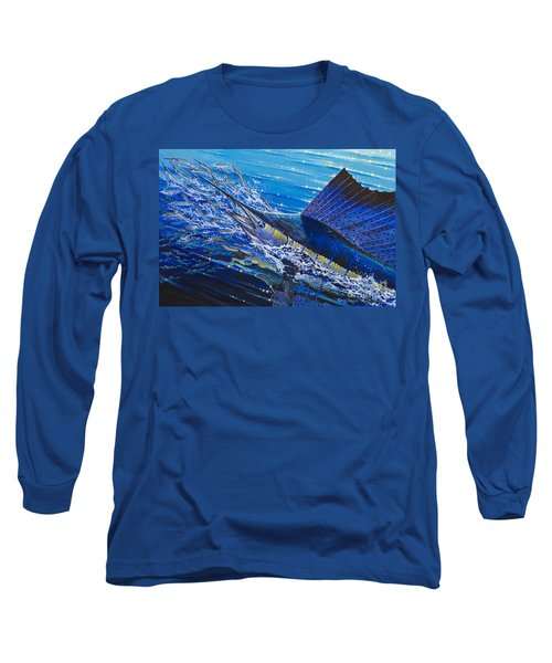 Sail On The Reef Off0082 Long Sleeve T-Shirt by Carey Chen