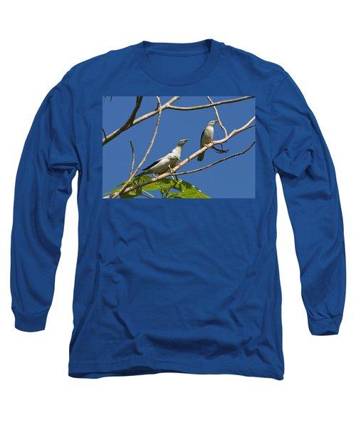 White-headed Starlings Havelock Isl Long Sleeve T-Shirt by Konrad Wothe