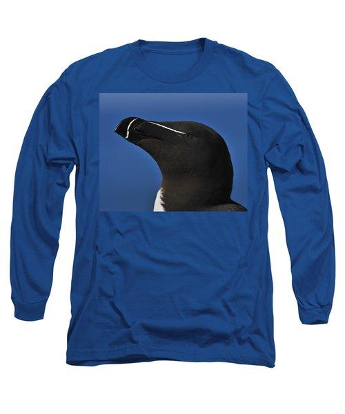 Razorbill Portrait Long Sleeve T-Shirt by Tony Beck