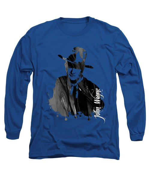 John Wayne Collection Long Sleeve T-Shirt by Marvin Blaine