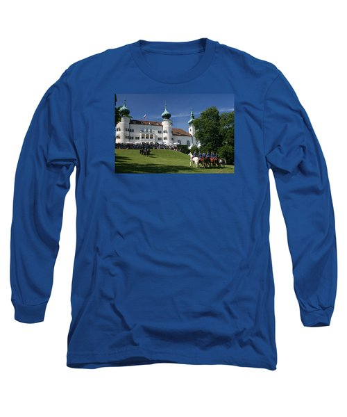 Long Sleeve T-Shirt featuring the photograph Artstetten Castle In June by Travel Pics