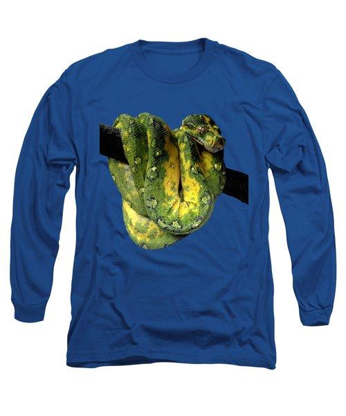 Green Tree Python 2 Long Sleeve T-Shirt by Alondra Hanley