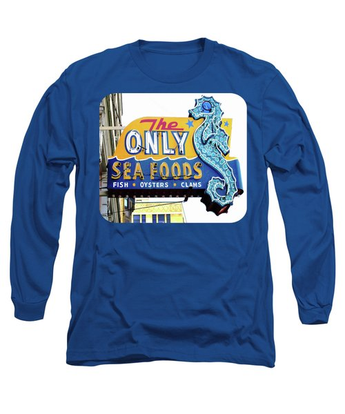 Cafe Sign Long Sleeve T-Shirt by Ethna Gillespie