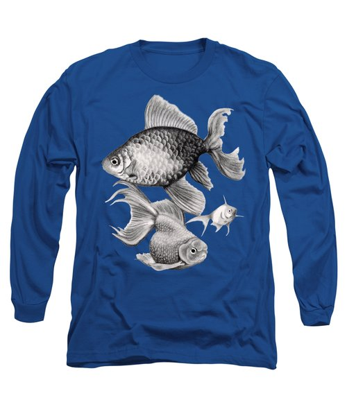 Goldfish Long Sleeve T-Shirt by Sarah Batalka
