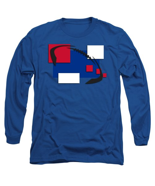 Bills Abstract Shirt Long Sleeve T-Shirt by Joe Hamilton