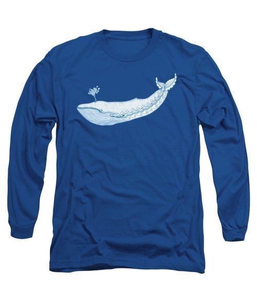 Blue Whale Long Sleeve T-Shirt by Eko Octavianus